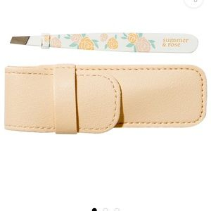 Summer & rose tweezers with pouch